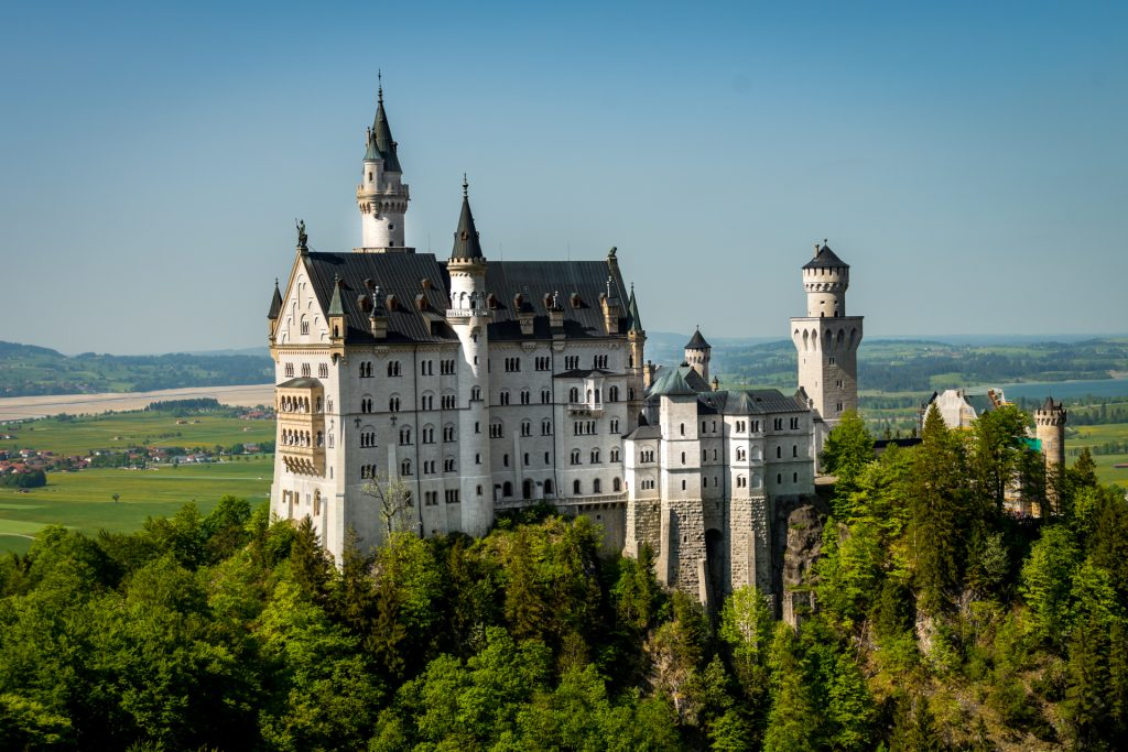 European Bucket list destination, Neuschwanstein Castle in Germany.
