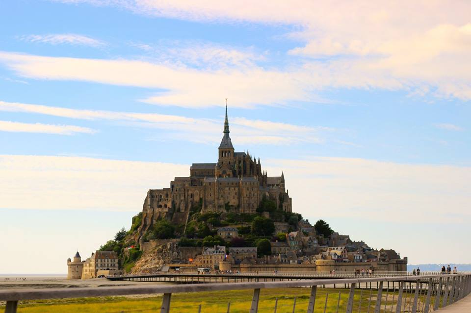 European bucket list. Visiting Mont Saint-Michel in France.