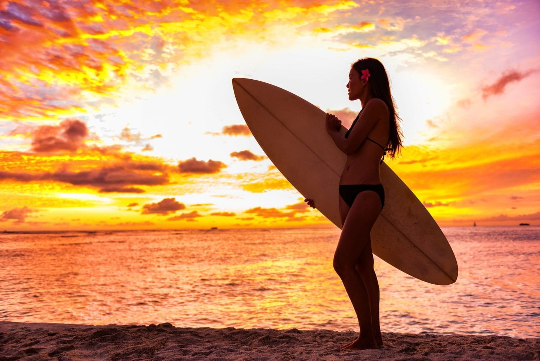 One of the best Oahu beaches, Waikiki Beach sunset