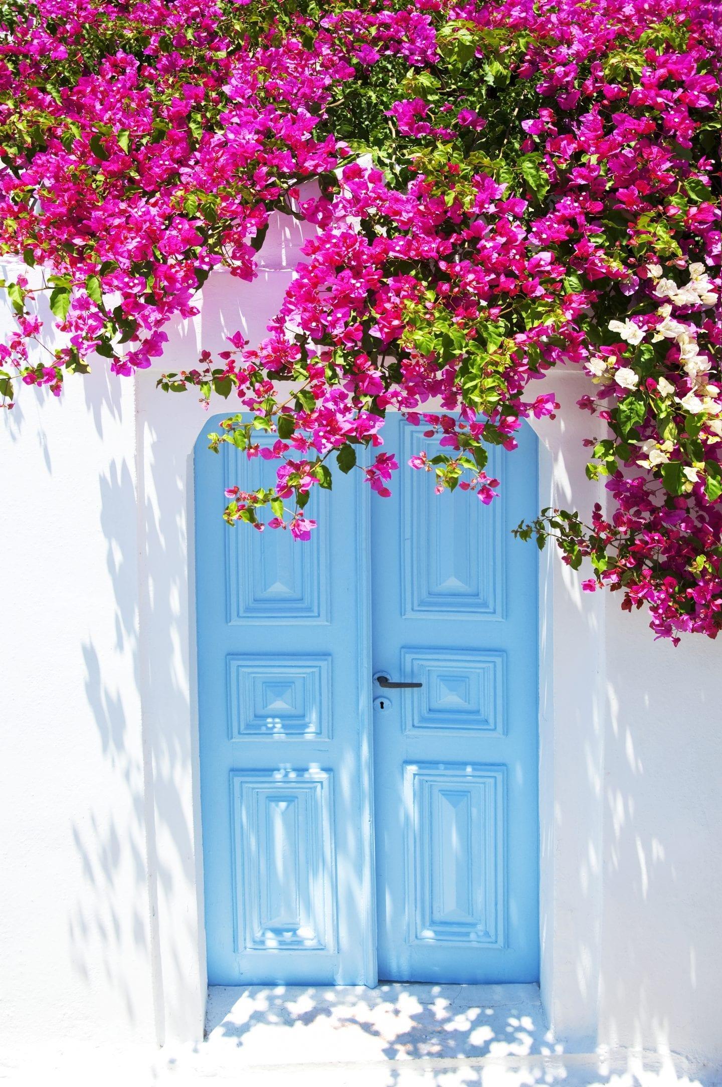 door in santorini