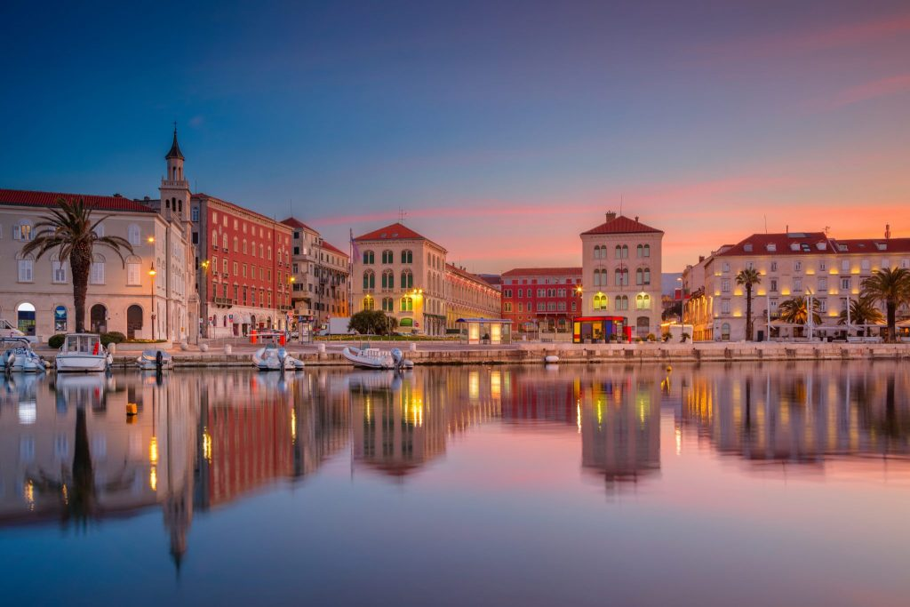 one day in split - see a sunset