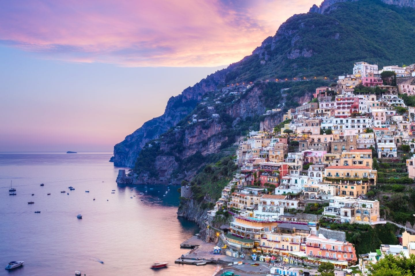 sunset is one of the best things to do in positano
