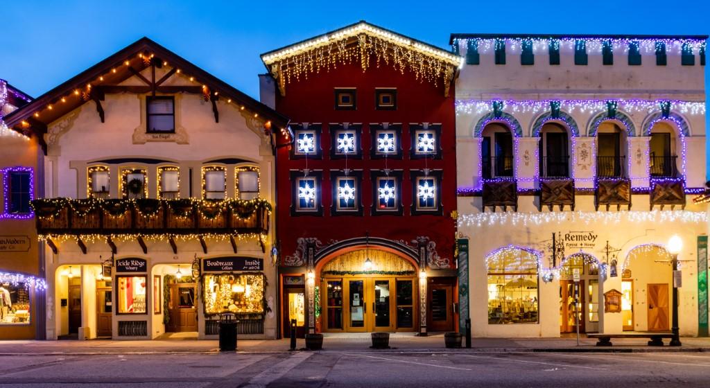 christmas towns usa